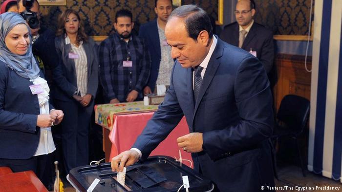 الهيئة الوطنية للانتخابات المصرية  تعلن فوز السيسي بولاية جديدة