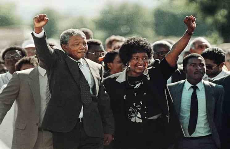 وفاة ويني مانديلا طليقة نيلسون مانديلا  ورفيقة نضاله
