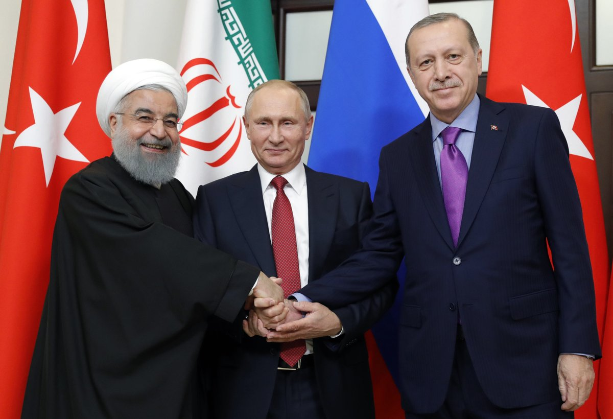 قادة تركيا وروسيا وإيران يعتزمون تعزيز الجهود لحل الأزمة السورية