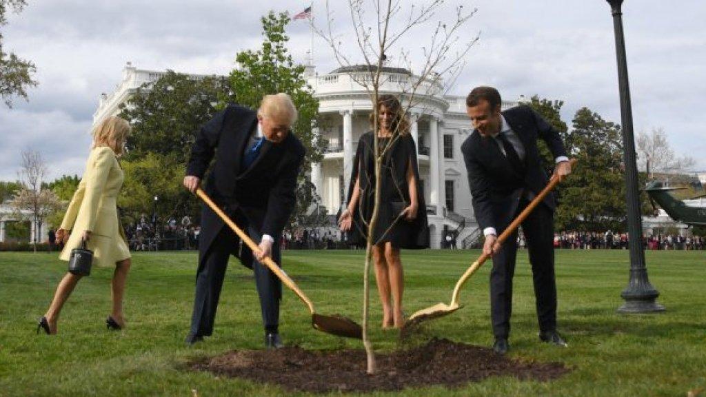 أكثر من ملف بين ترامب وماكرون في محادثات البيت الأبيض