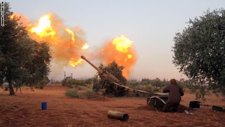 عشرات الاصابات بقصف صاروخي على مواقع سورية وايرانية