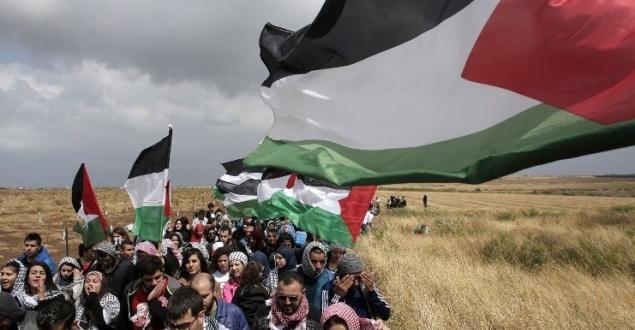 هيئة مسيرات العودة:إسرائيل تحرق خياما للمسيرات جنوب غزة