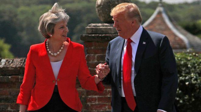 """ترامب نصح ماي بـ """"مقاضاة"""" الاتحاد الأوروبي وليس التفاوض"""