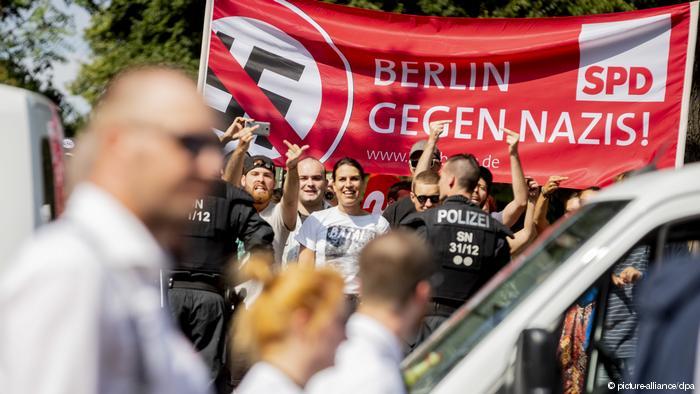 إلغاء مسيرة للنازيين الجدد في برلين من جانب المنظمين وسط انخفاض الإقبال