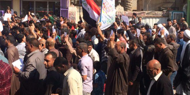 انسحاب المتظاهرين العراقيين من مناطق البصرة ونفي إغلاق الحدود