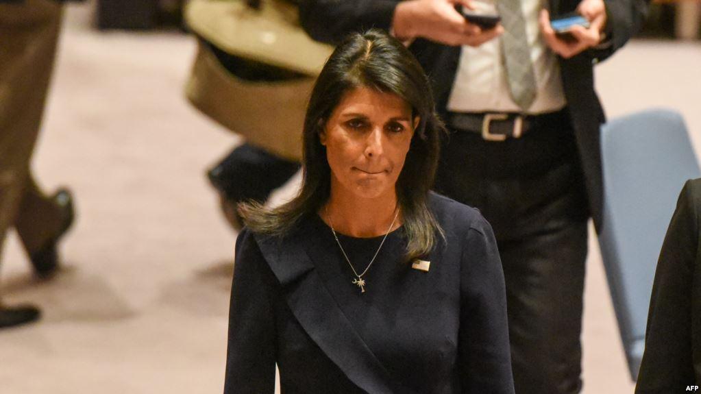 استقالة نيكي هيلي المندوبة الأمريكية لدى الأمم المتحدة