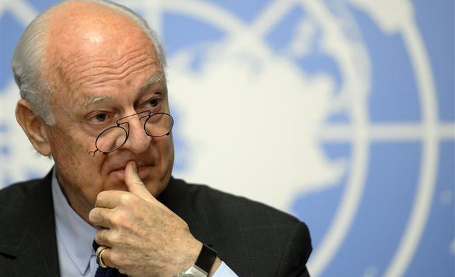 دي ميستورا : النظام  يرفض دور الأمم المتحدة باللجنة الدستورية