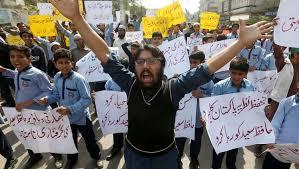 قوات لقمع المظاهرات بعد قرار محكمة باكستانية الافراج عن مدانة بالتجديف