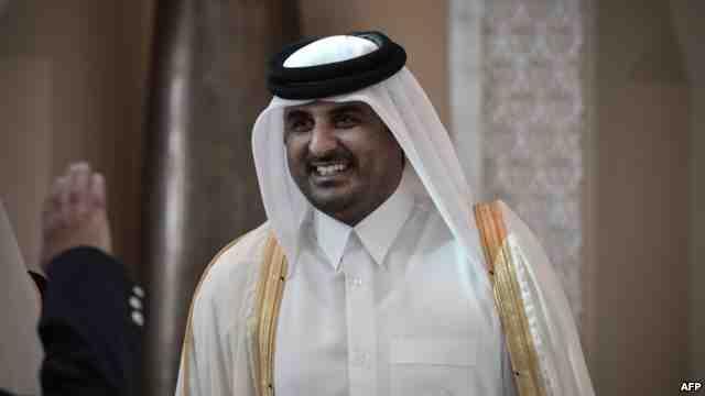 """أمير قطر يطالب بحل أزمة الخليج بالحوار """" القائم على الاحترام """""""