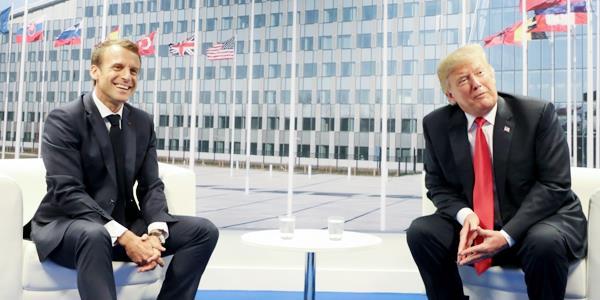 ماكرون ينتقد من تشاد انسحاب أمريكا من سورية