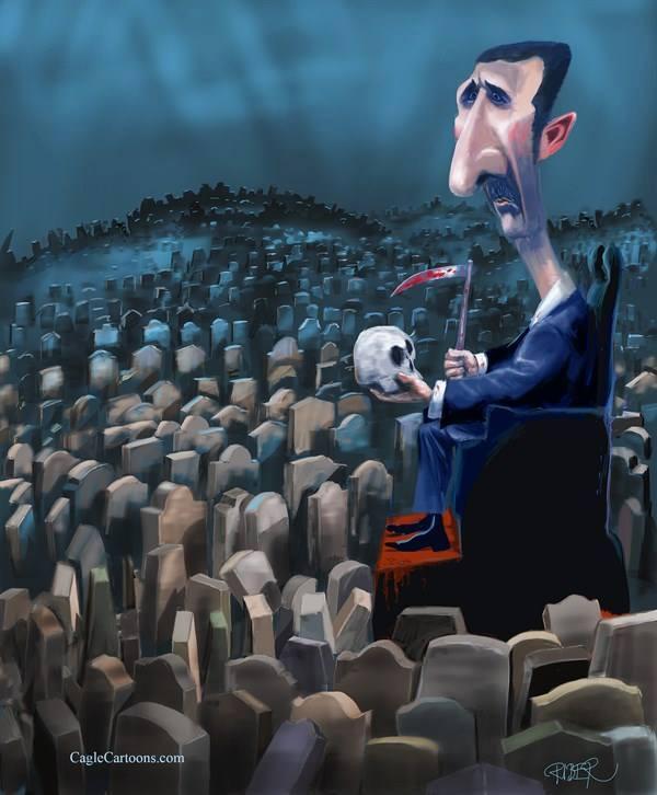 """رد السوريين على """"قرداحي"""" بعد اختياره الاسد شخصية العام"""