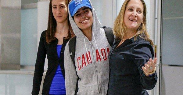 رهف تصل تورونتو بعد حصولها على اللجوء في كندا