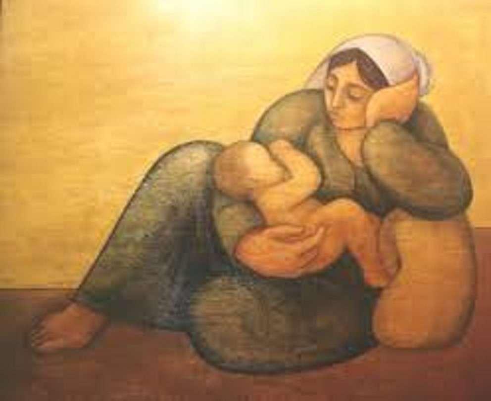اللوحة للفنان الرحل لؤي كيالي