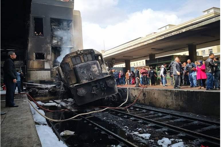 إحالة 14 متهما للجنايات فى قضية حادث قطار محطة مصر
