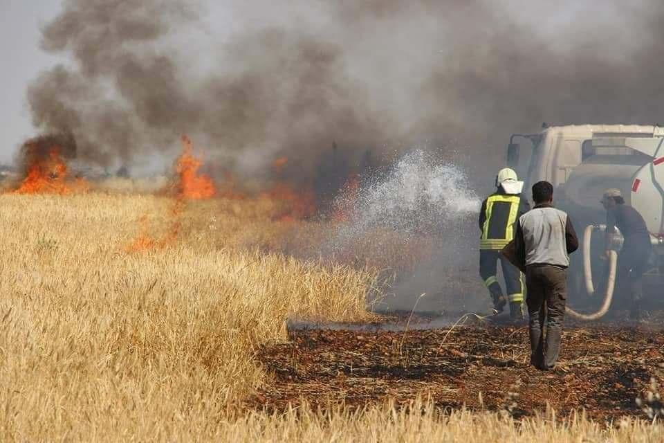 المحاصيل الزراعية فى سورية تتعرض لأكبر ازمة حرائق في تاريخها