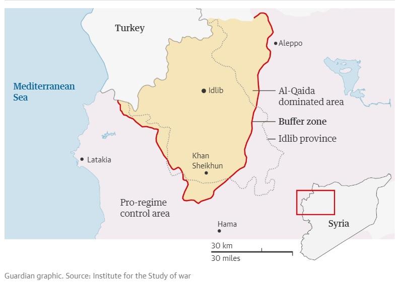 الغارديان تسلط الضوء على رمزية خان شيخون بمعركة إدلب