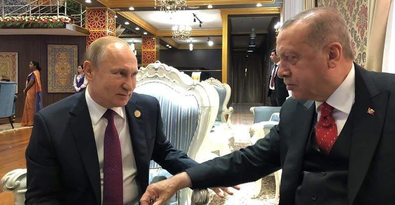 بوتين واردوغان يتفقان بمكالمة هاتفية على دحر الإرهاب في إدلب