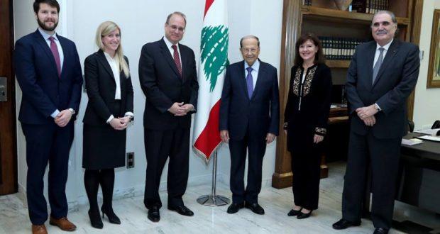 عون يأمل بوساطة أمريكية لترسيم الحدود بين لبنان وإسرائيل