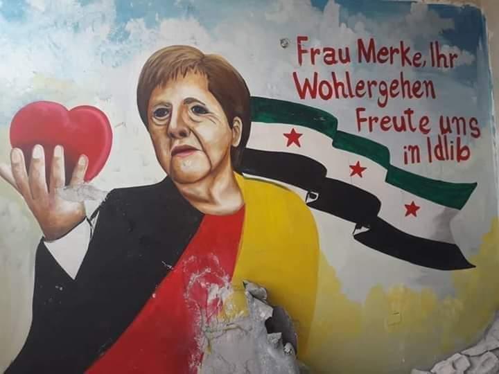 """سوريون يصلّون لسلامة الأم الحنونة """"ميركل"""""""