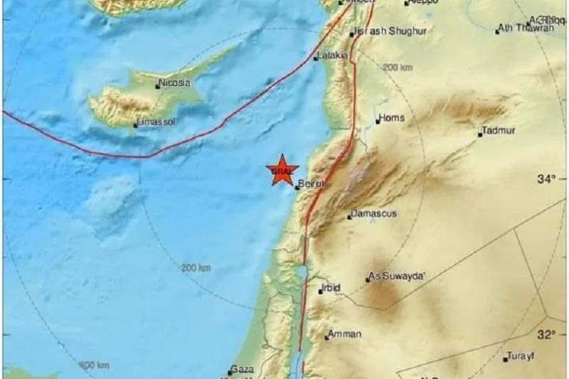 هزات أرضية تضرب الساحل السوري وشعر بها سكان إدلب وحلب