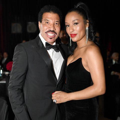 ليونيل ريتشي وزوجته