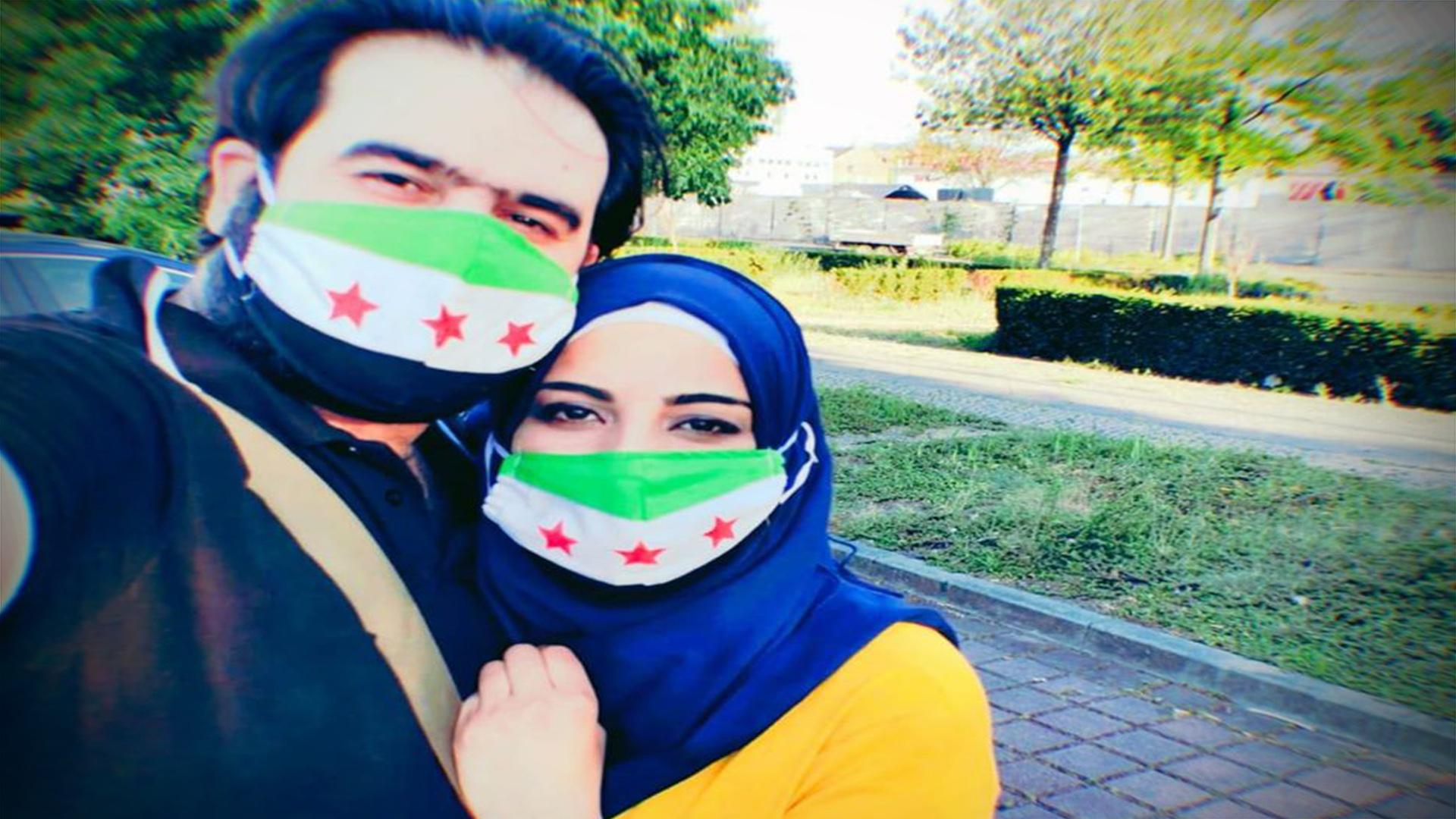 علم الثورة السورية.. مهر عروس في ألمانيا