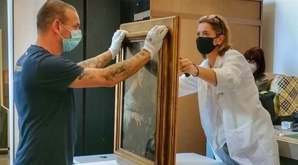 عرض لوحة شهيرة للرسام الايطالي  كارافايو في معرض بروما