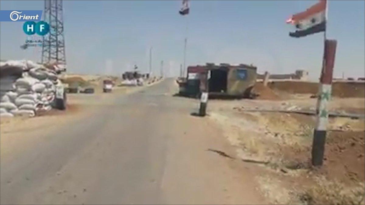 فيديو يوثق حاجزاً للأمن العسكري بعد هروب عناصره شرقي درعا  ا