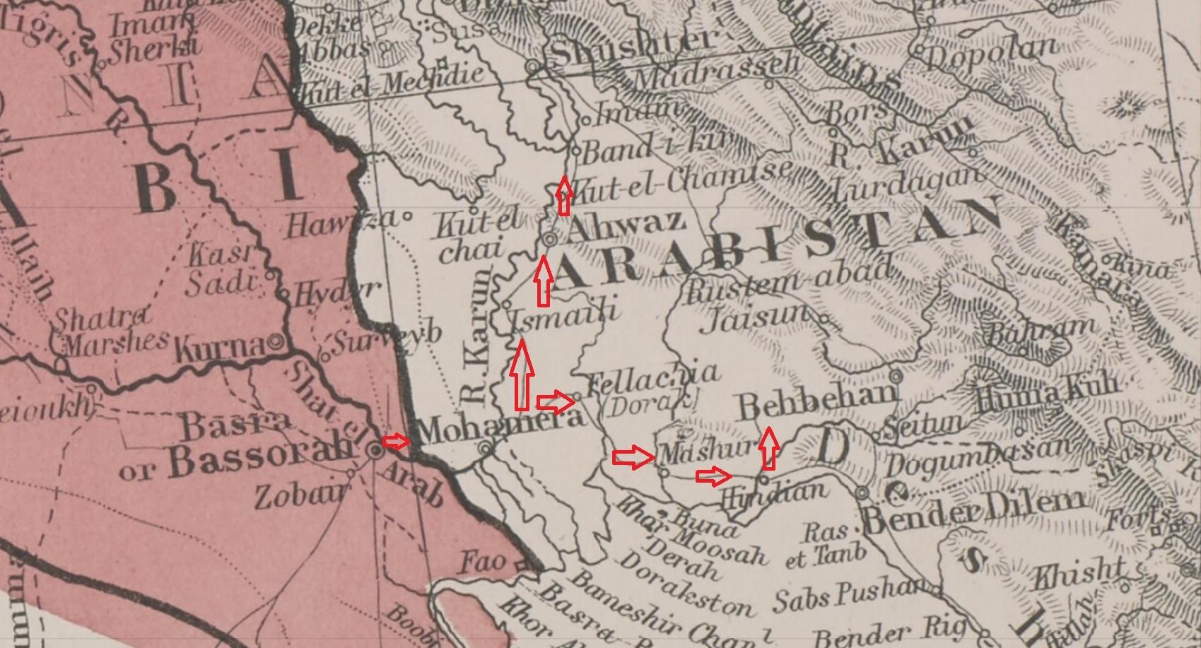 الأحواز بمذكرات الرحالة الإنجليزي، جي.اتش.ستوشلر.اسحاق 1831