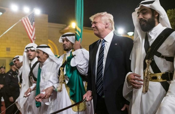 ترامب اثناء زيارة للسعودية