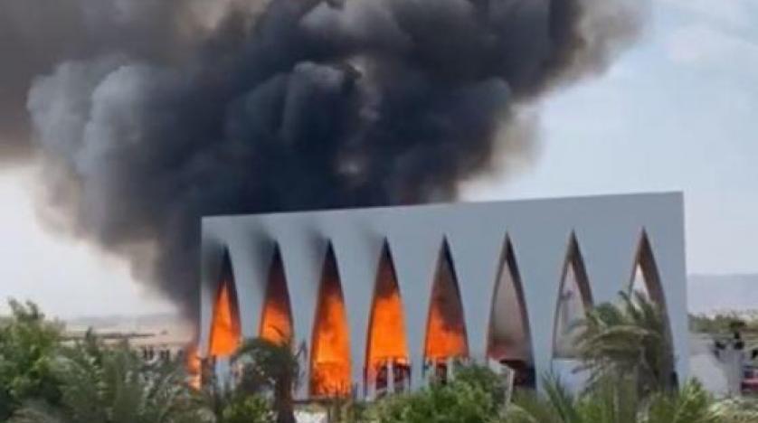 حريق قاعة مهرجان الجو نة السينمائي - مواقع مصرية