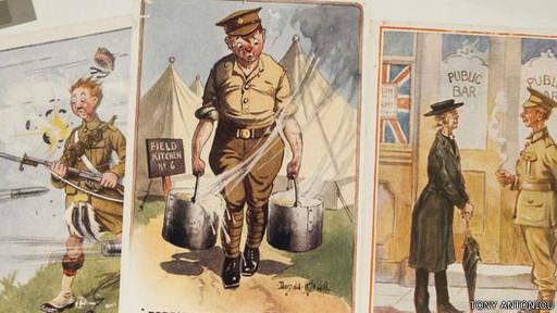 معرض فني عن دور الفكاهة السوداء في الحرب العالمية الأولى