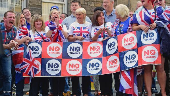 تقدم الرافضين لاستقلال اسكتلندا في استطلاعات الراي عشية الاستفتاء
