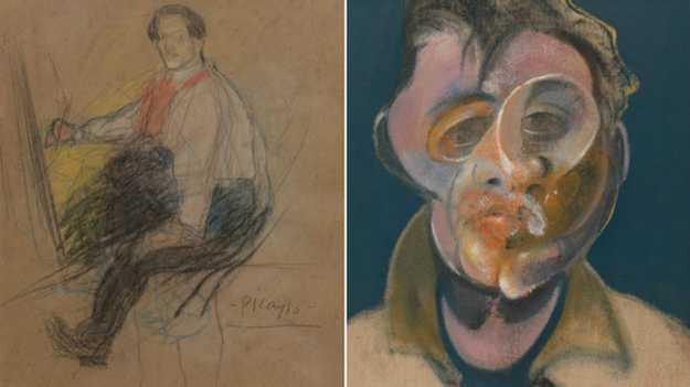 لوحة ذاتية لبابلو بيكاسو في معرض فني بريطاني