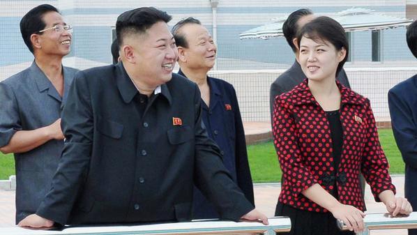 الزعيم الكوري وزوجته