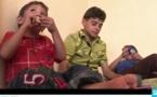 اطفال الحصار في مدينة داريا السورية يكتشفون المثلجات والبسكويت