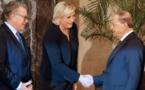 مارين لوبان ترفض تغطية رأسها في دار الإفتاء في لبنان