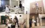 حطام مبعثر لقطع اثرية لا تقدر بثمن داخل متحف الموصل