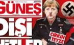 """صحيفة تركية تصف ميركل بـ""""السيدة هتلر"""" على صفحتها الأولى"""