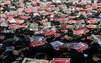 كثافة نسائية  بحرانية في تظاهرة معارضة للتجنيس