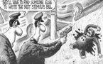 كاريكاتير عنصري يحرض على اغتيال أوباما