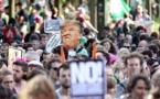 """مظاهرات في بروكسل ضد ترامب الذي وصفها ب""""حفرة جهنم """""""