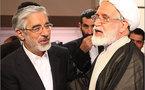 موسوي وكروبي يصليان خلف رفسنجاني غدا في أول أستعراض قوة للمعارضة الايرانية