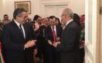 وزير الاثار والسفير الايطالي