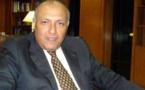"""شكري يحذر من""""ممرات آمنة للارهابيين""""اثناء لقائه مع ديمستورا"""