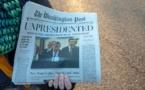 """نسخ مزورة من """"واشنطن بوست"""" تتنبأ باستقالة ترامب"""
