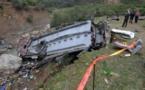 حادث مروري قاتل لعائلة ضحية من انقلاب الحافلة المروع بتونس