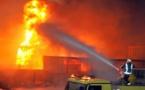 حريق هائل يلتهم مخزن في القليبوية المصرية