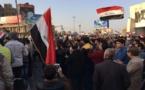 مظاهرة احتجاجية تخرق حظر التجوال في النجف العراقية