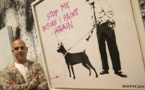 """الفنان البريطاني """"بانكسي"""" يدعم حركة """"حياة السود مهمة"""""""